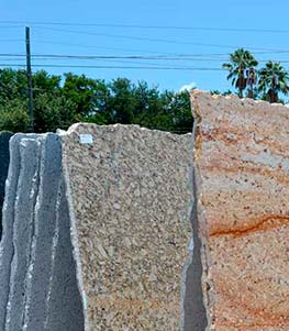 Granite slabs in our yard
